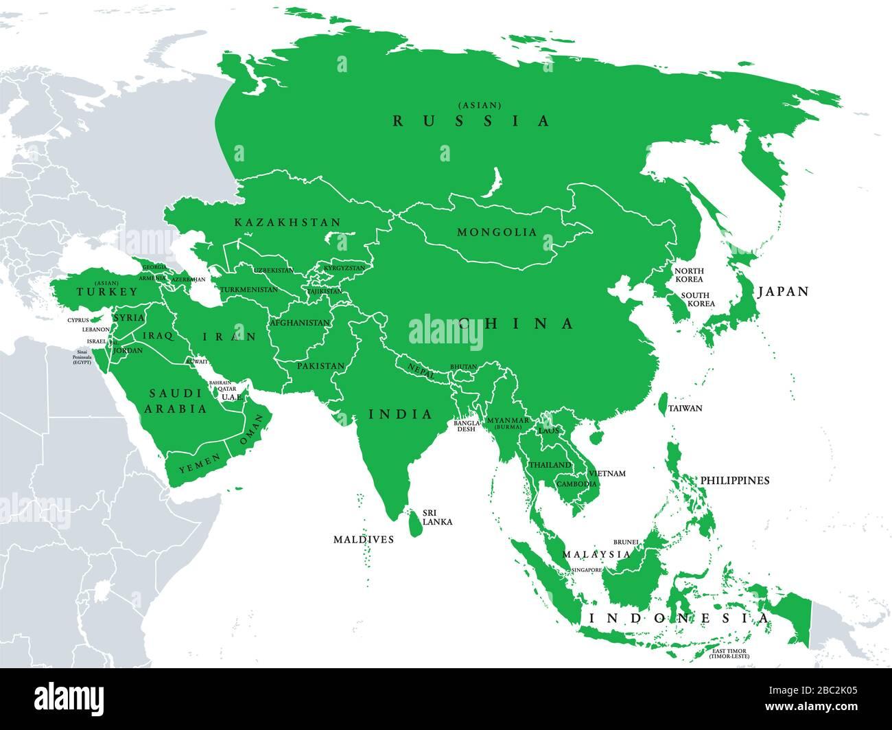 Cartina Fisica E Politica Della Russia.Mappa Politica Russia Immagini E Fotos Stock Alamy