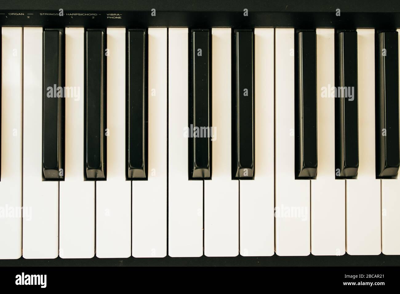 Tastiera pianoforte musicale INS.piano tastiera Foto Stock