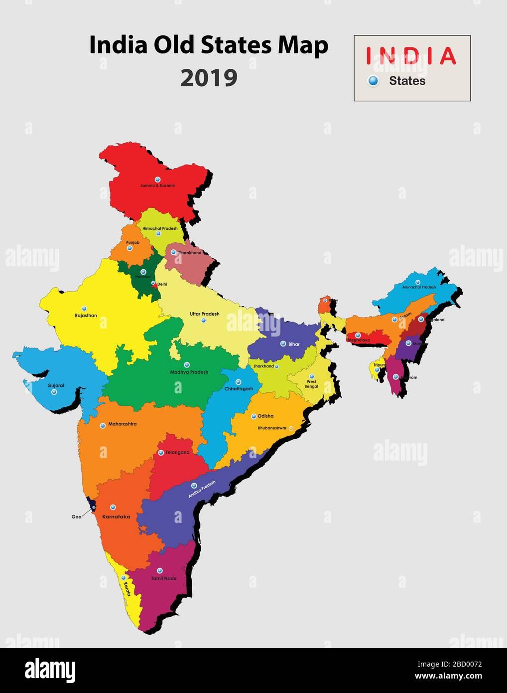 Cartina Dell India Del Nord.Mappa India Immagini E Fotos Stock Alamy