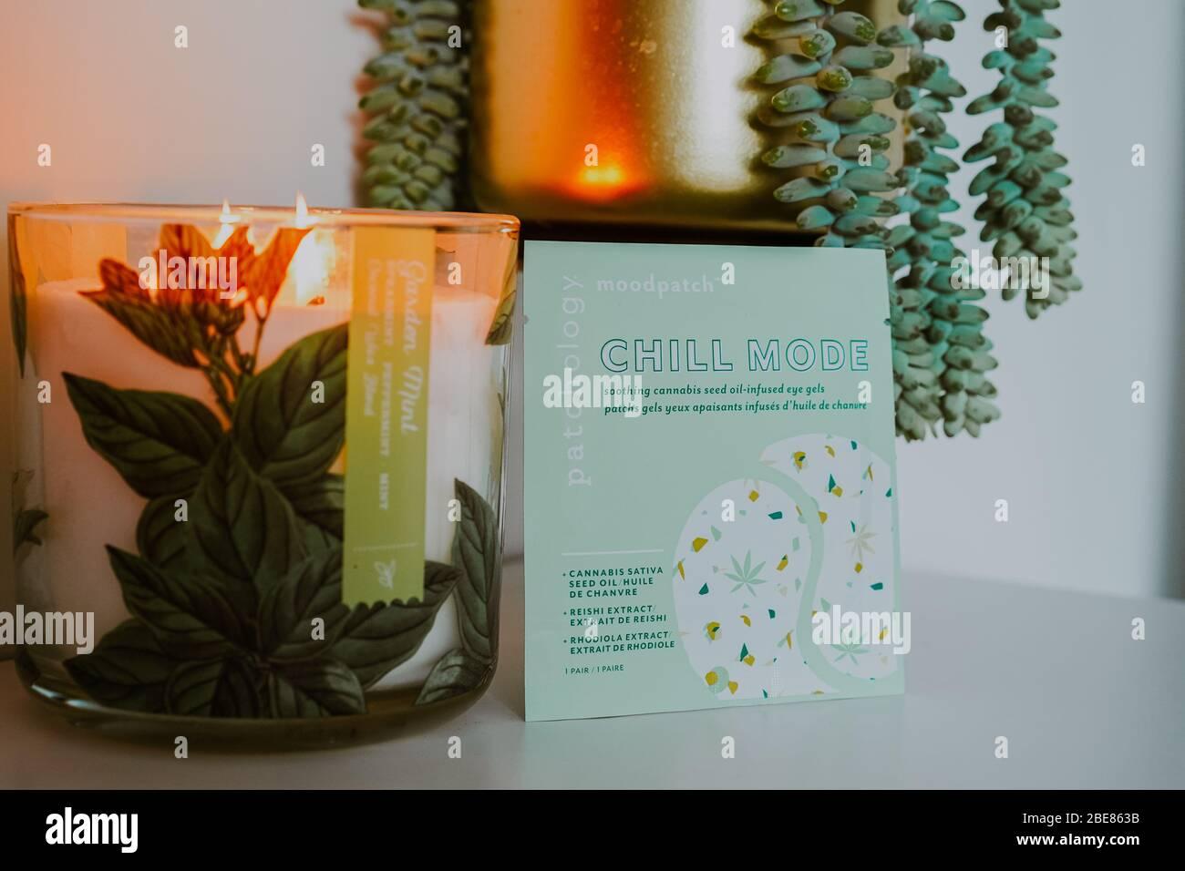 Gel per occhi Chill Mode che contengono olio di semi Cannabis Sativa Foto Stock