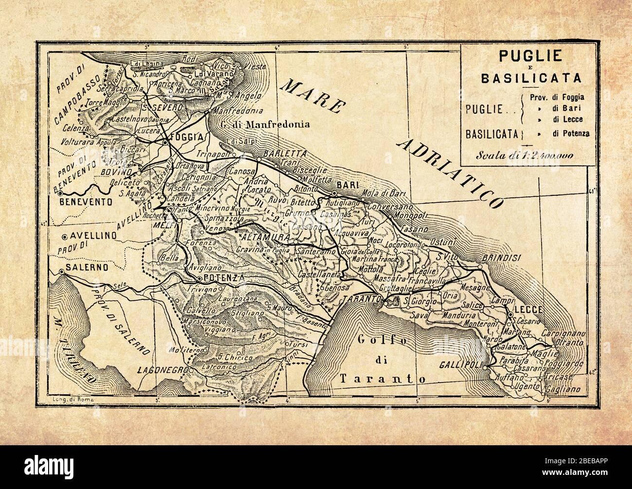Mappa Puglia E Basilicata.Mappa Basilicata Immagini E Fotos Stock Alamy