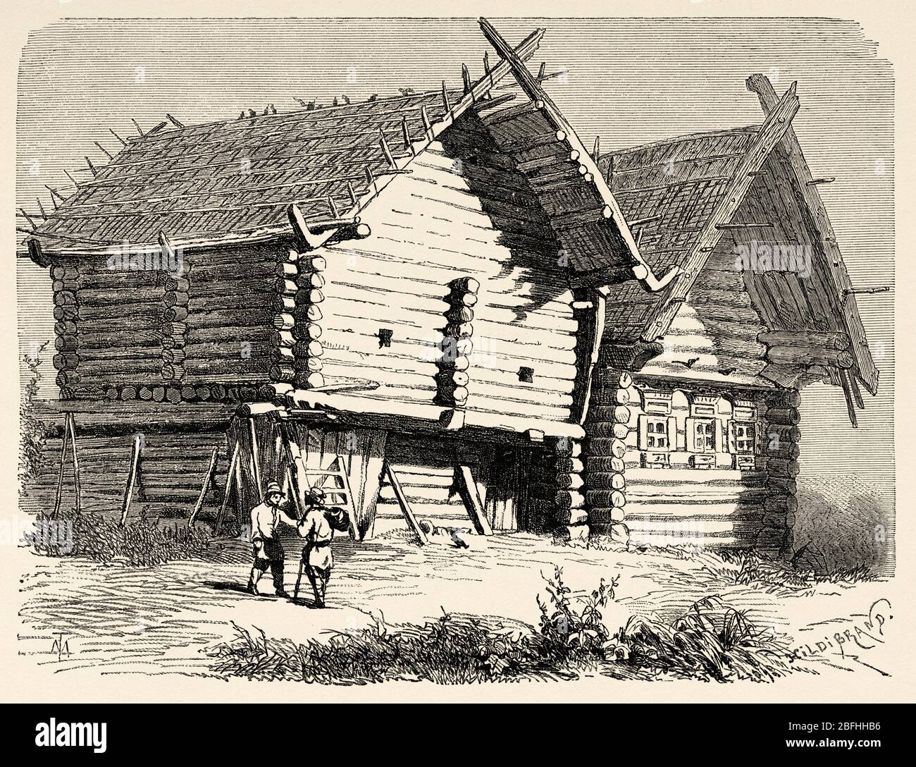 Casette Russe Di Campagna ancient wooden houses in russia immagini & ancient wooden