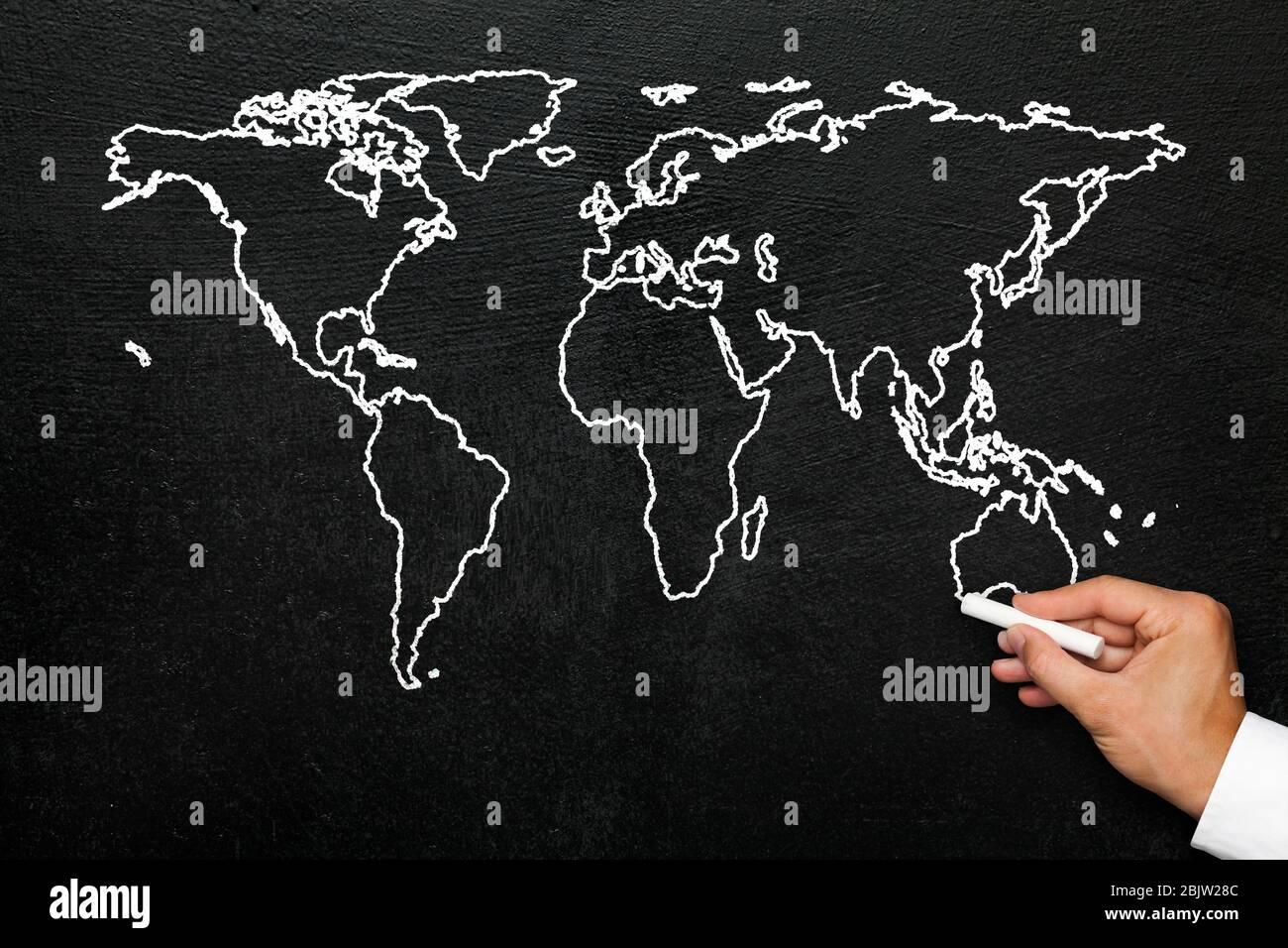 Cartina Geografica Del Mondo In Bianco E Nero.Mappa Stilizzata Europa Immagini E Fotos Stock Alamy