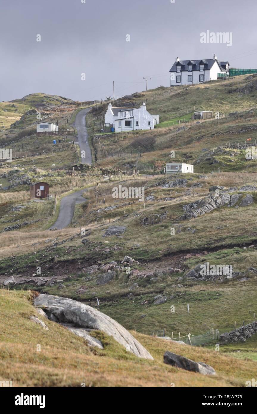 Oldshoremore, Sutherland, Kinlochbervie, Peninsula, Scozia, Foto Stock