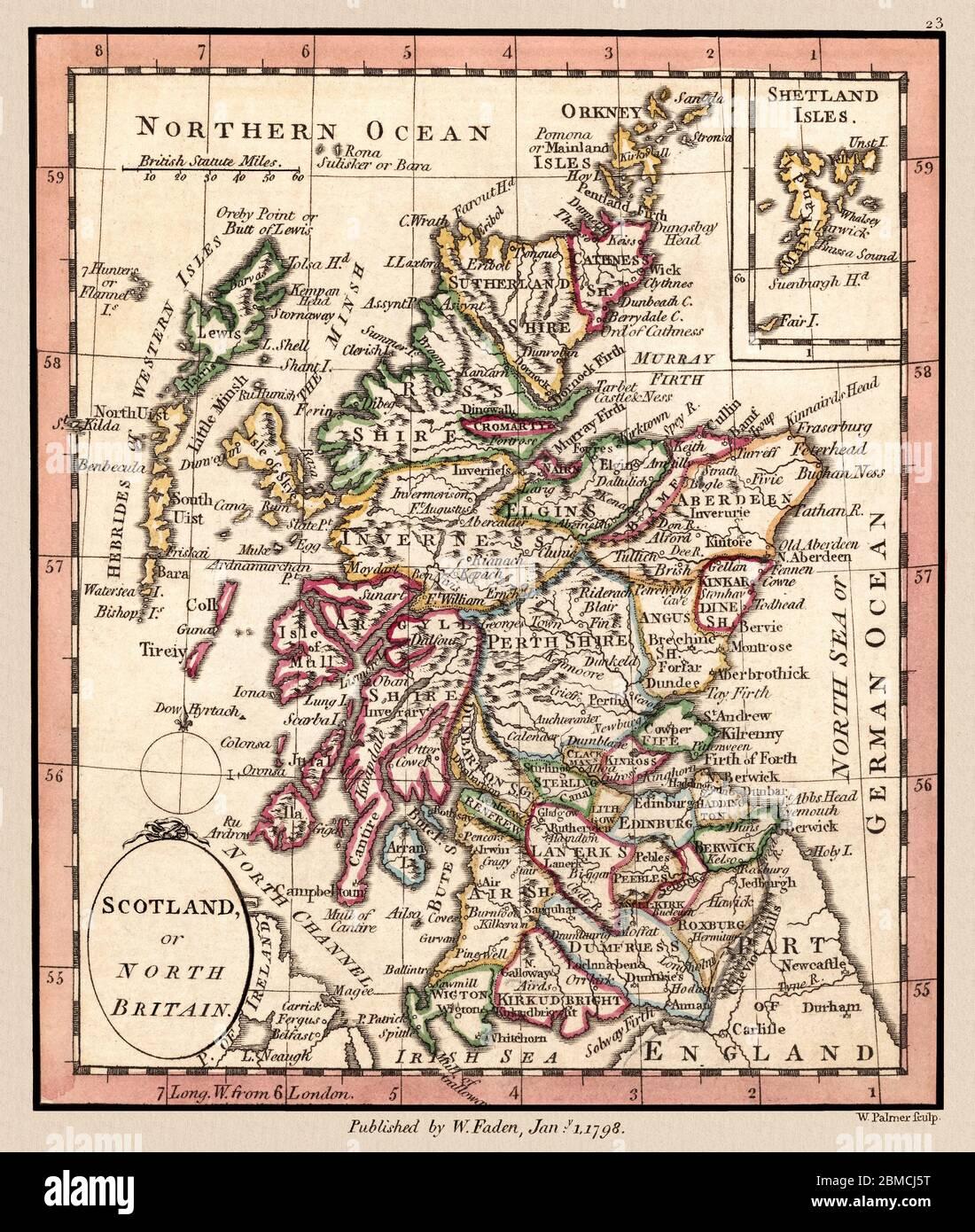 Scozia Cartina Dettagliata.Map Hebrides Immagini E Fotos Stock Alamy
