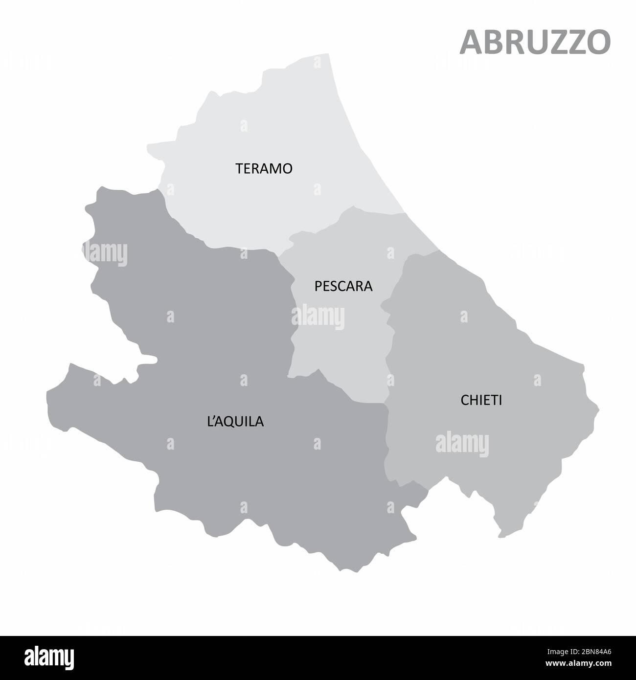 Cartina Abruzzo Umbria.Mappa Della Regione Abruzzo Immagini E Fotos Stock Alamy