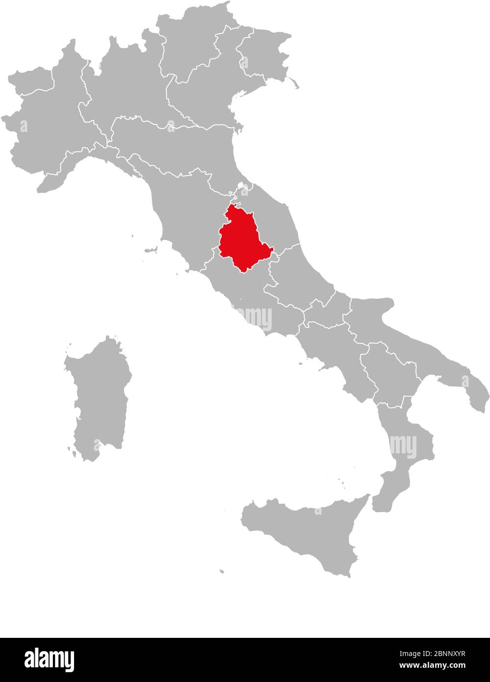 Cartina Italia Politica Umbria.Provincia Dell Umbria Segnata In Rosso Sulla Mappa Dell Italia Sfondo Grigio Mappa Politica Italiana Immagine E Vettoriale Alamy