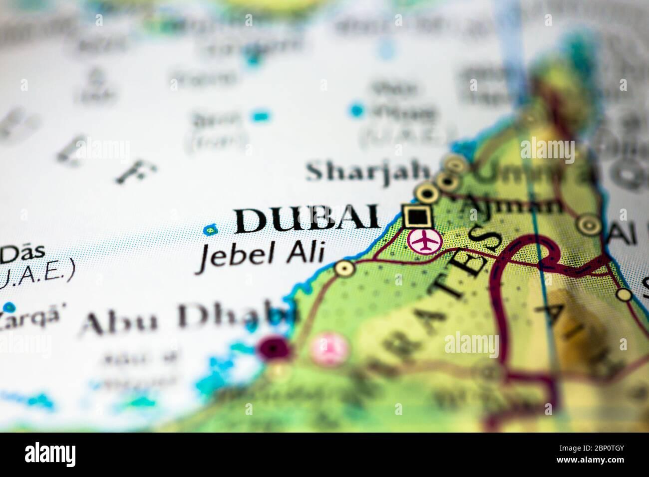 Dubai Sulla Cartina Geografica.Map Of The United Arab Emirates Immagini E Fotos Stock Alamy