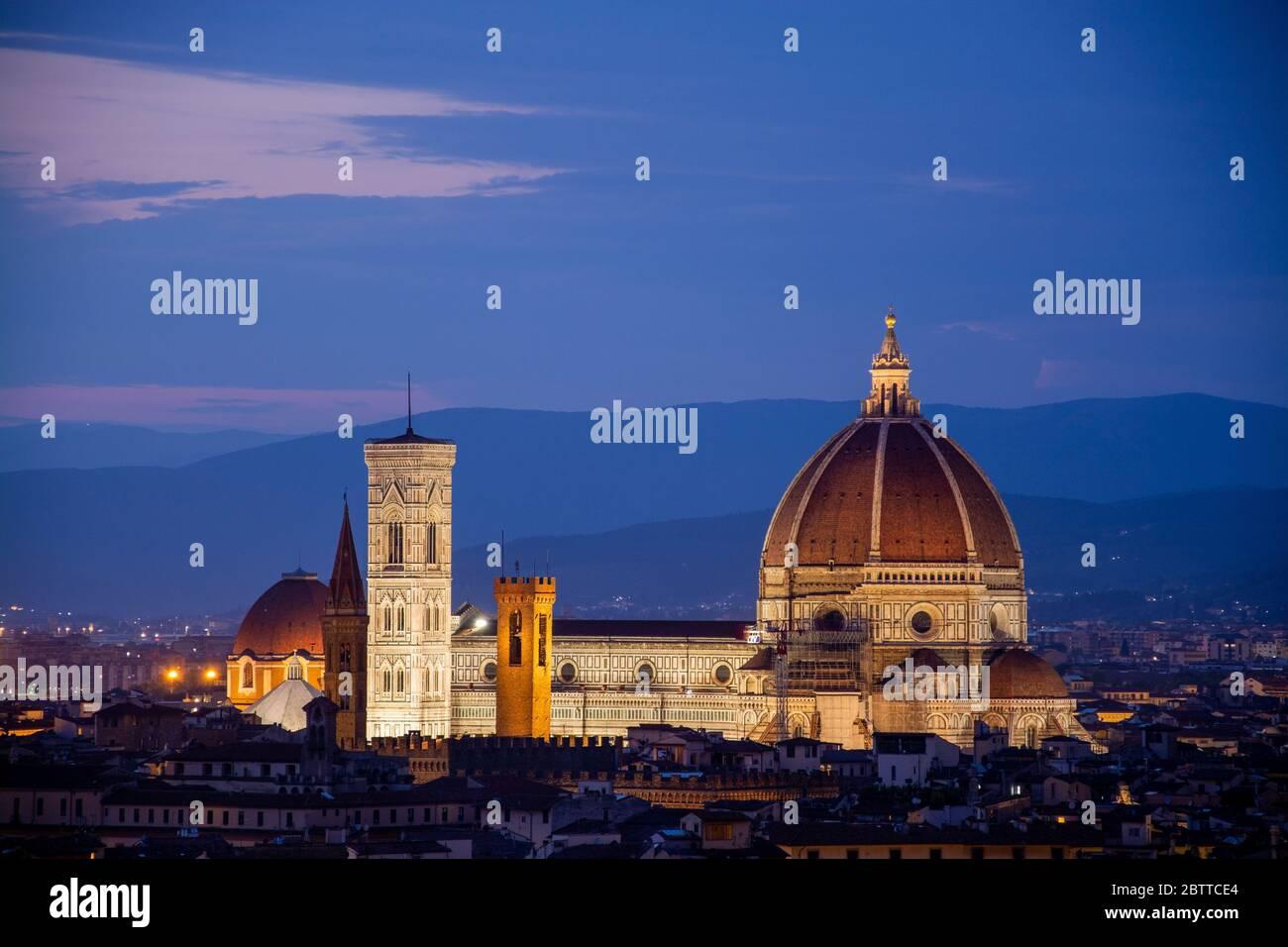 Florenz, Italien, ist für seine Geschichte berühmt. ALS Zentrum des spätmittelalterlichen europäischen Handels- und Finanzwesens war es eine der reich Foto Stock