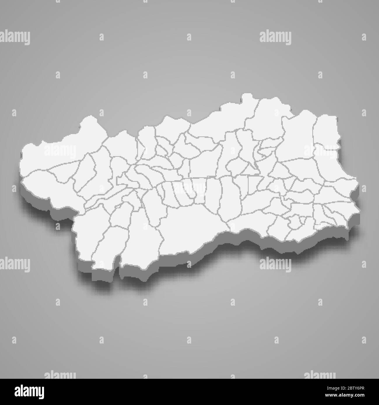Cartina Stradale Valle D Aosta.La Mappa 3d Della Valle D Aosta E Una Regione D Italia Immagine E Vettoriale Alamy