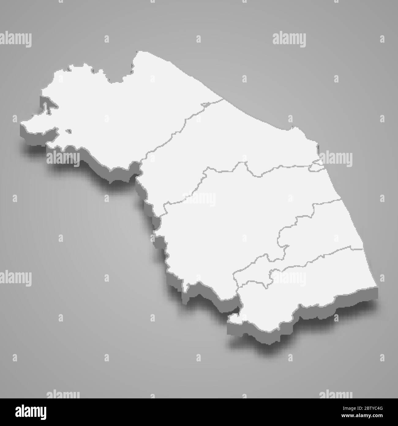 Cartina Politica Regione Marche.Mappa Delle Marche Immagini E Fotos Stock Alamy