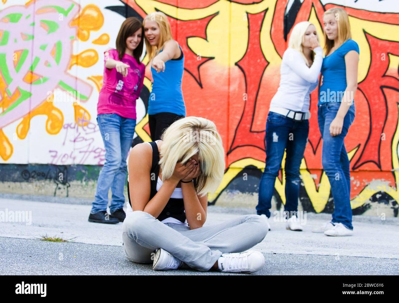 Mobbing in der Schule, MR: Sì Foto Stock