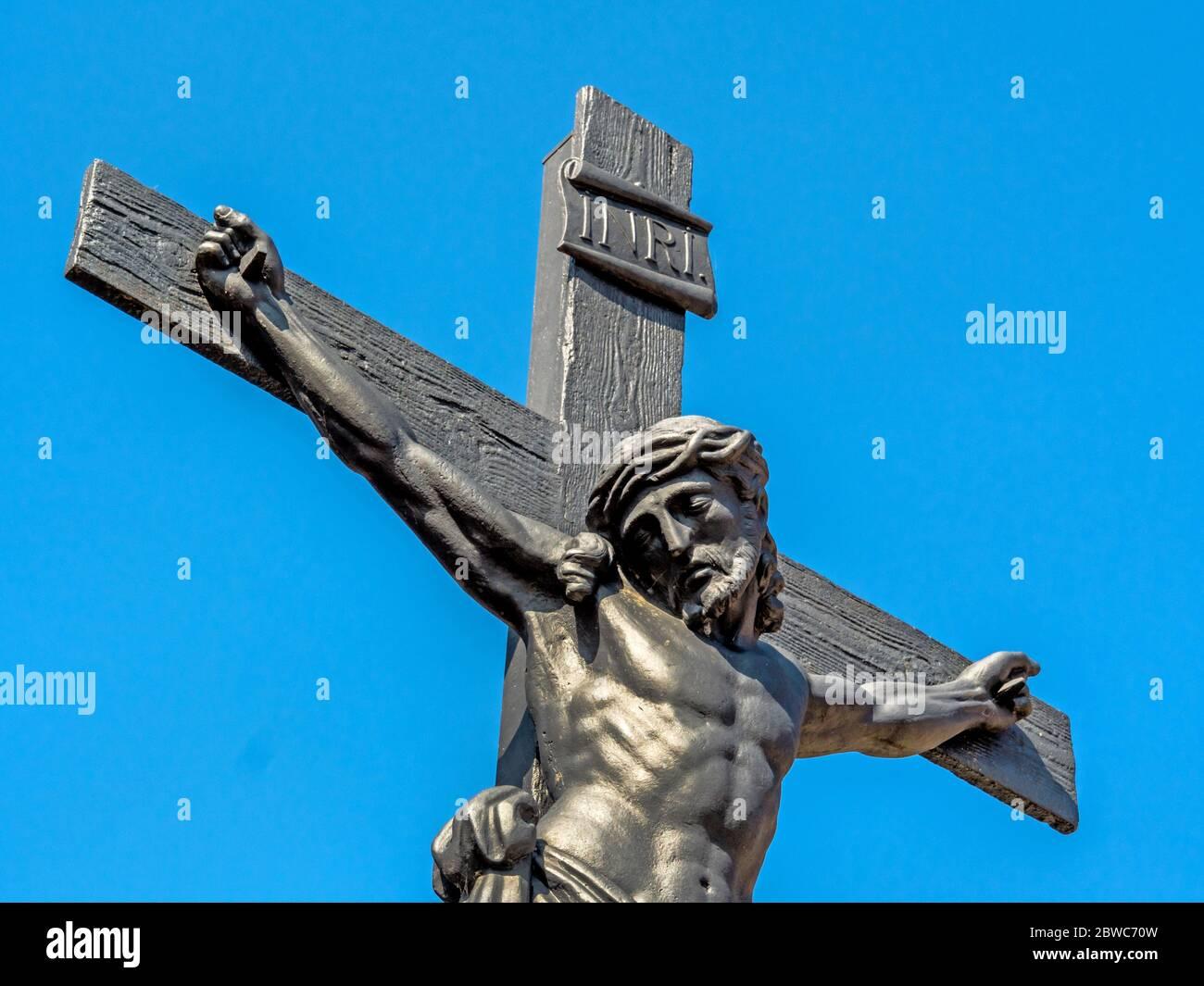 Kreuzigung Gesù Cristo. Symbolfoto für Osten. Foto Stock