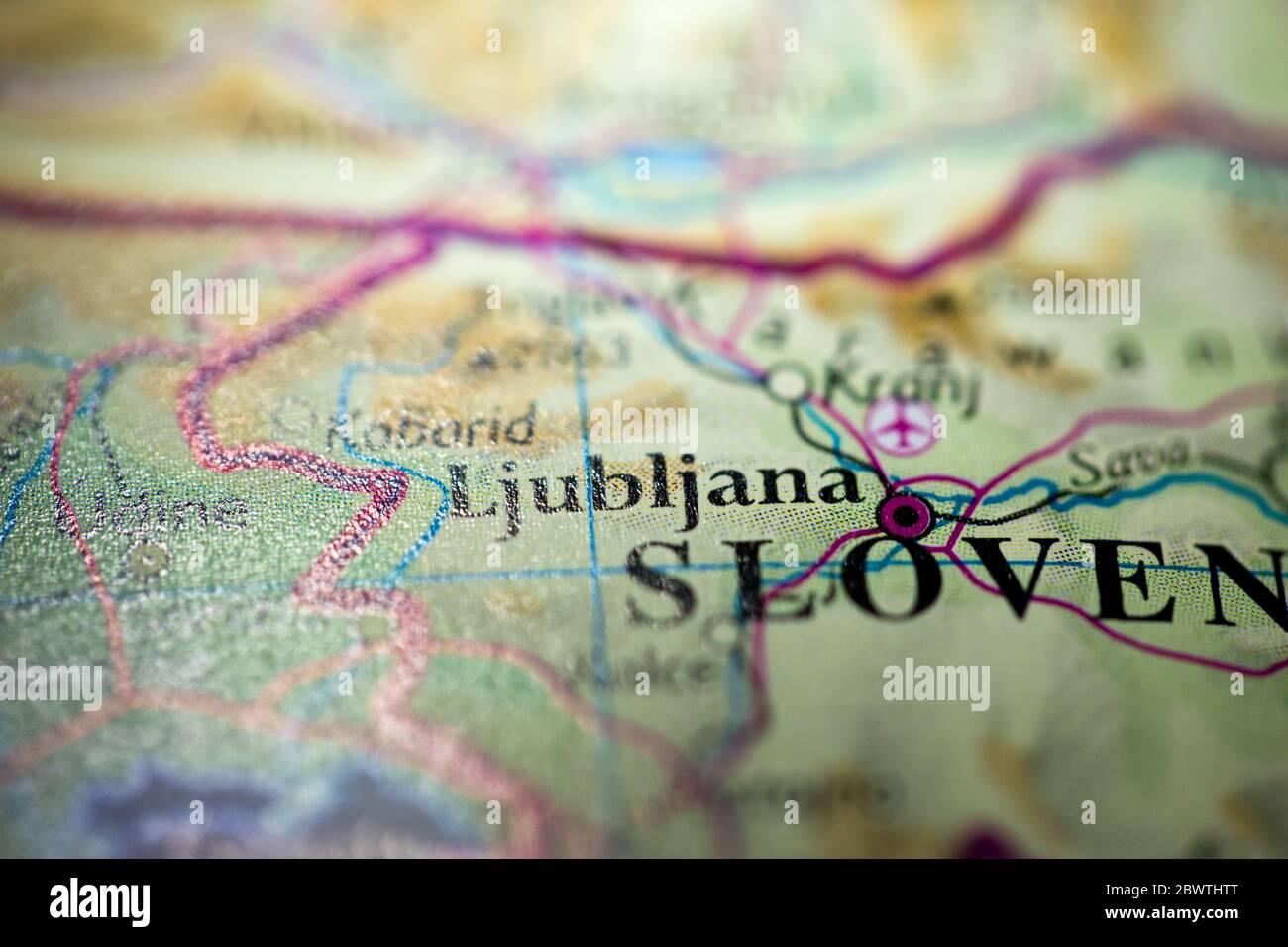 Cartina Turistica Slovenia.Mappa Della Slovenia Immagini E Fotos Stock Alamy