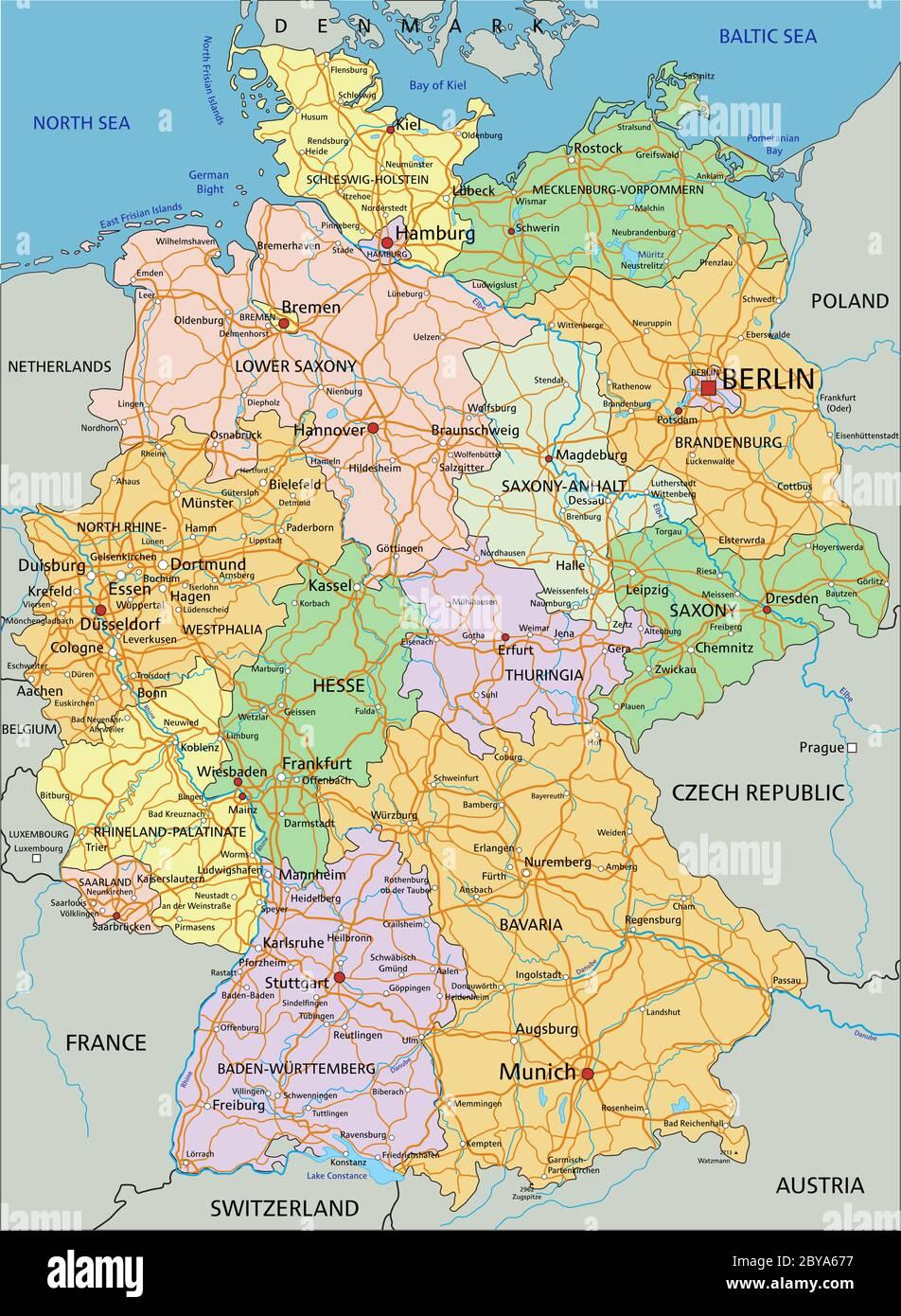 Cartina Germania Dettagliata