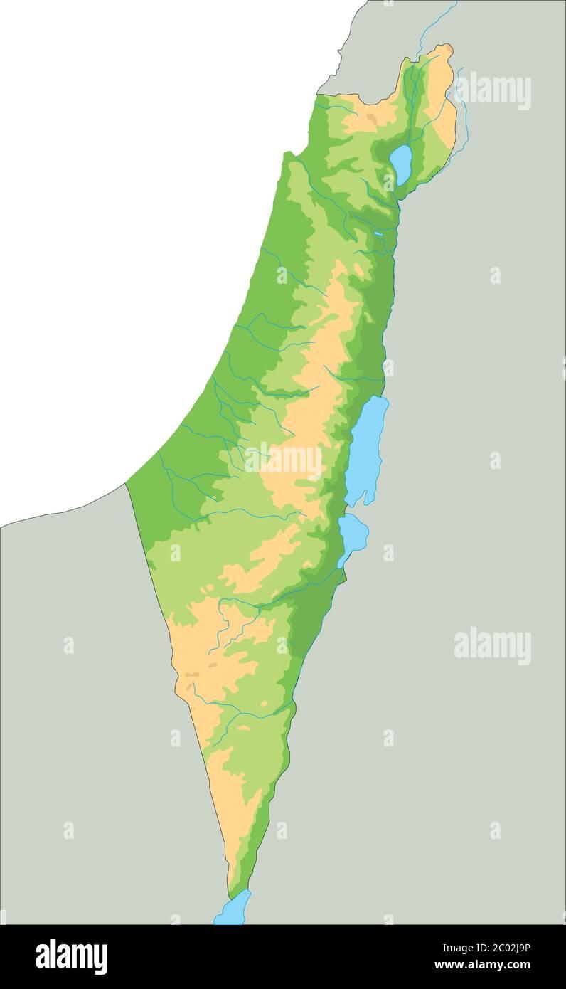 Cartina Geografica Fisica Israele.Mappa Fisica Di Israele Dettagliata Immagine E Vettoriale Alamy