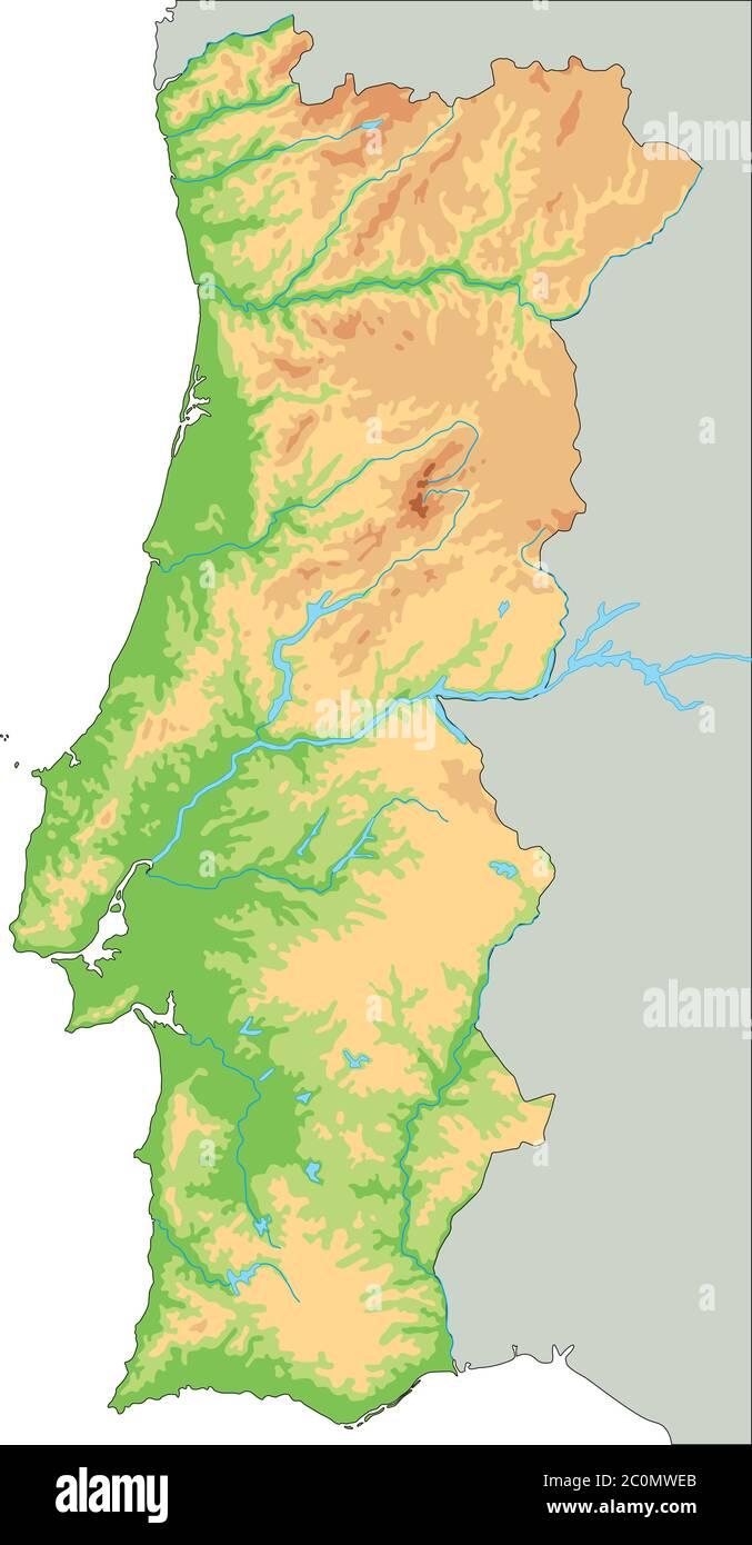 Portogallo Cartina Fisica E Politica.Outline Map Portugal Immagini E Fotos Stock Alamy