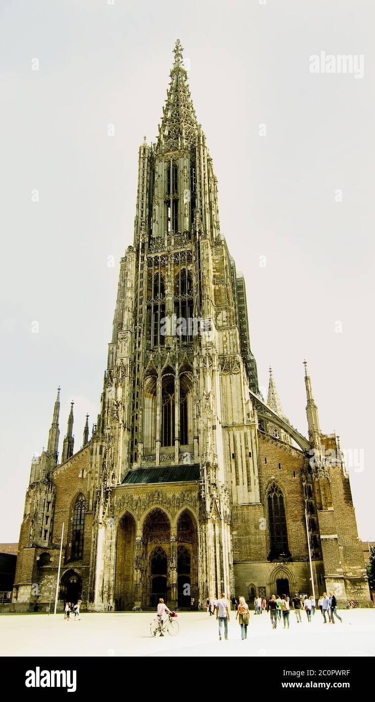 Duomo di Ulma Foto Stock