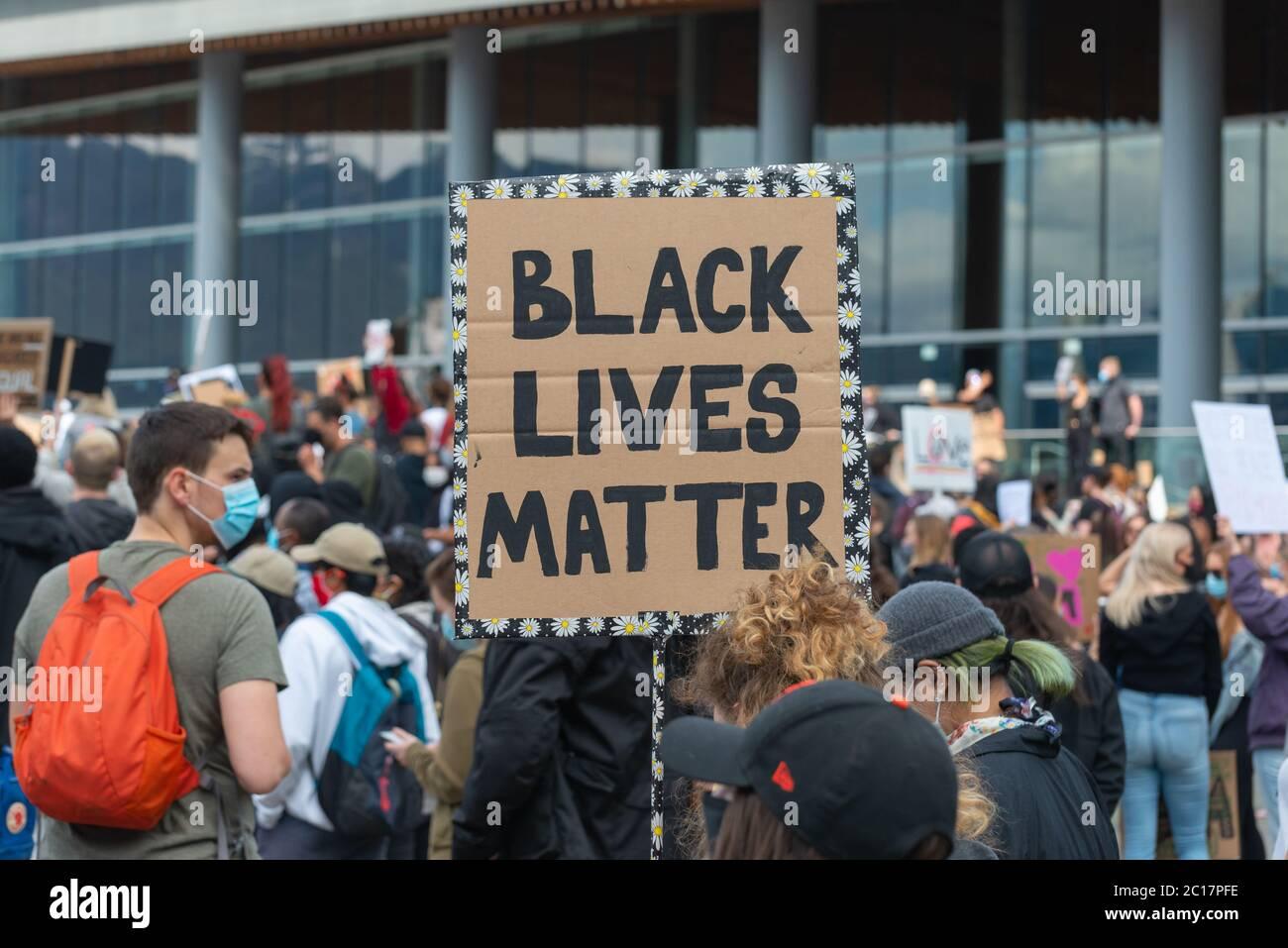 Proteste di George Floyd, Vancouver, Canada Foto Stock
