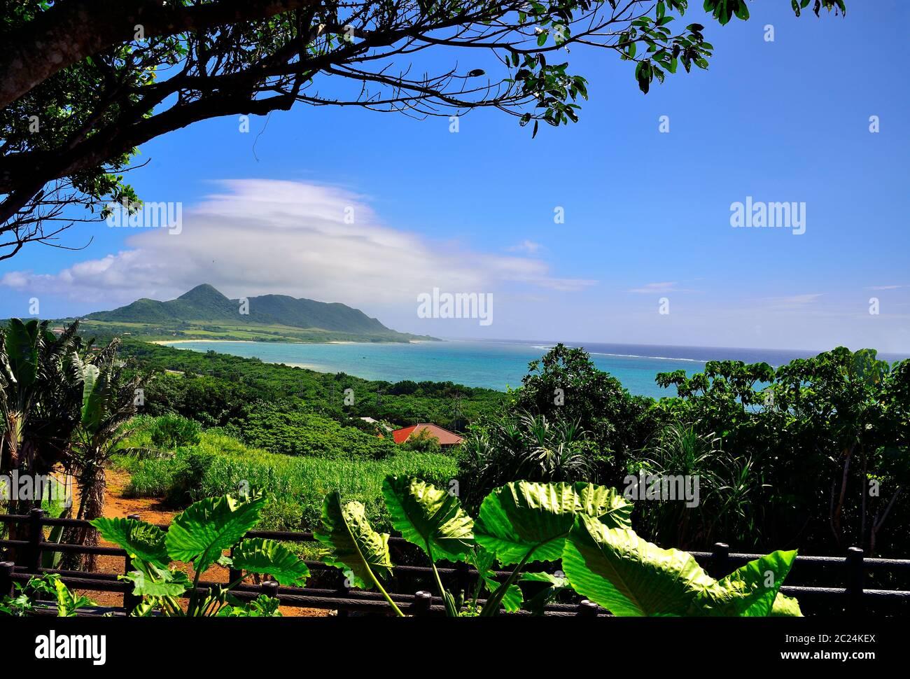 Vista, da Tamatorizak, Ishigaki, Isole Yahema, Okinawa, Giappone Foto Stock