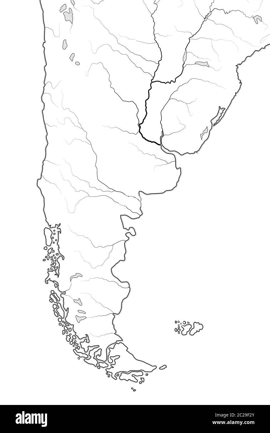 Patagonia Cartina Geografica.Mappa Mondiale Di Patagonia Argentina Cile Paraguay Uruguay Patagonia Pampas Grafico Geografico Foto Stock Alamy