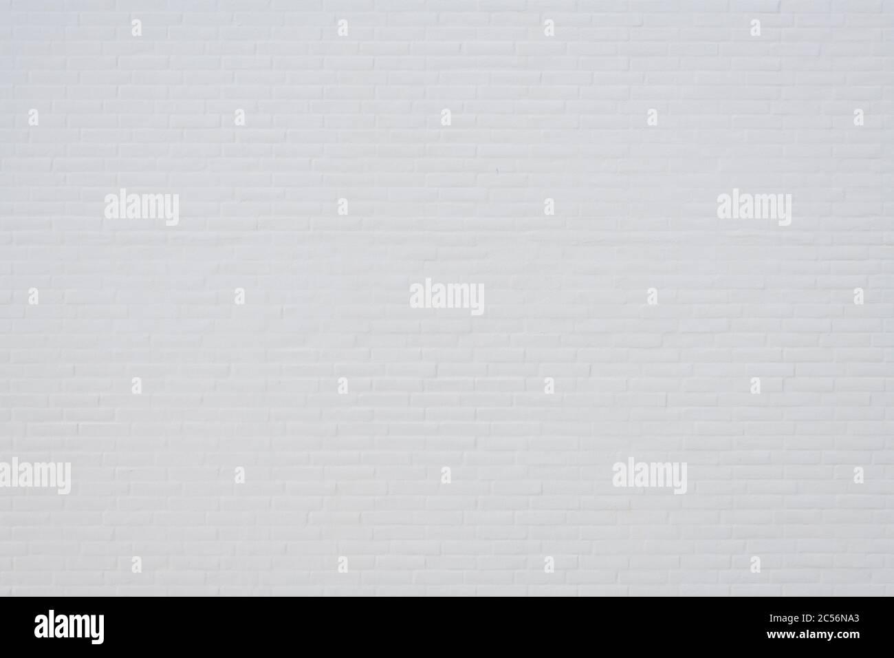 Muro di mattoni bianco Foto Stock