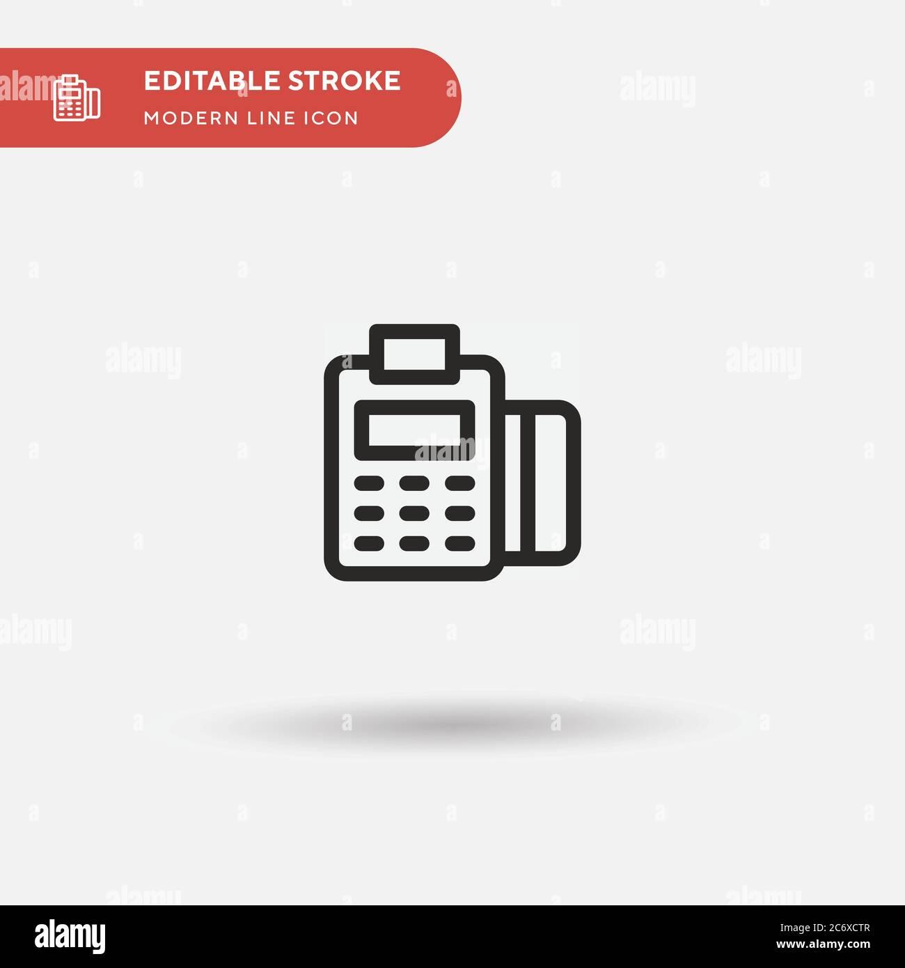 Icona vettore semplice punto di servizio. Modello di disegno simbolo illustrazione per elemento UI mobile Web. Pittogramma moderno a colori perfetto su tratto modificabile. Icone Point of Service per il progetto aziendale Illustrazione Vettoriale