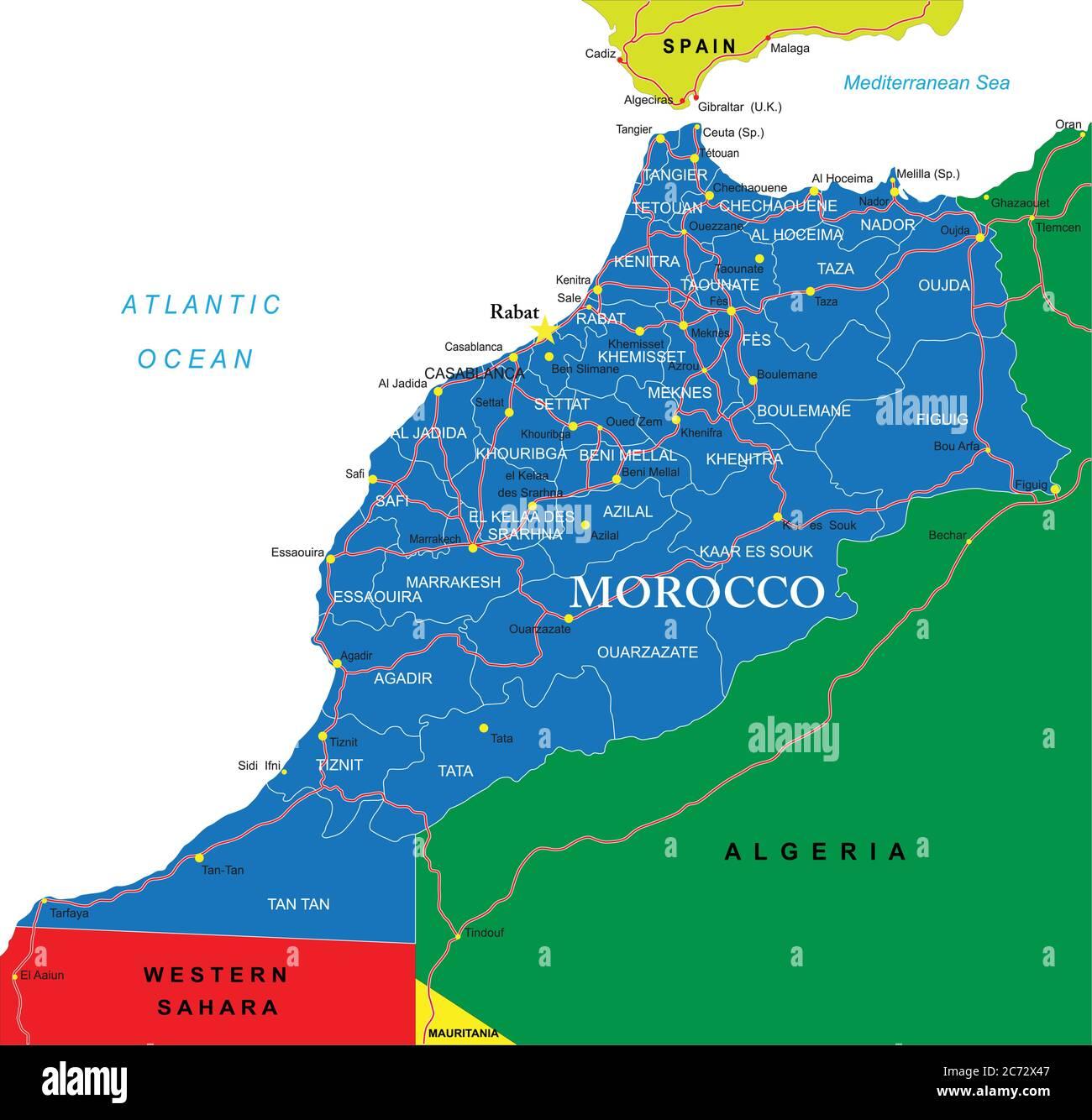 Cartina Politica Del Marocco.Mappa Di Marrakech Immagini E Fotos Stock Alamy
