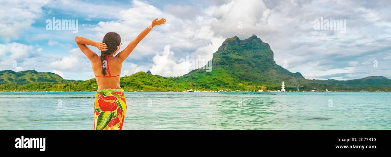 Donna Tahitiana Sulla Spiaggia Immagini e Fotos Stock - Alamy