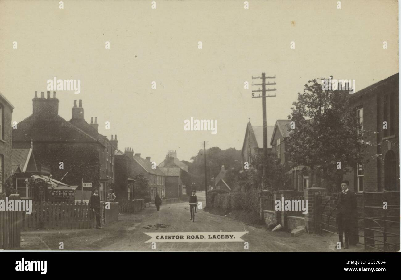 Caistor Road, Laceby, Grimsby, Lincolnshire, Inghilterra. Foto Stock