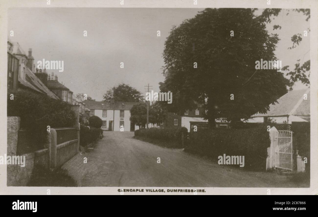 The Village, Glencaple, Dumfries, Dumfries & Galloway, Scozia. Data: 1920 Foto Stock