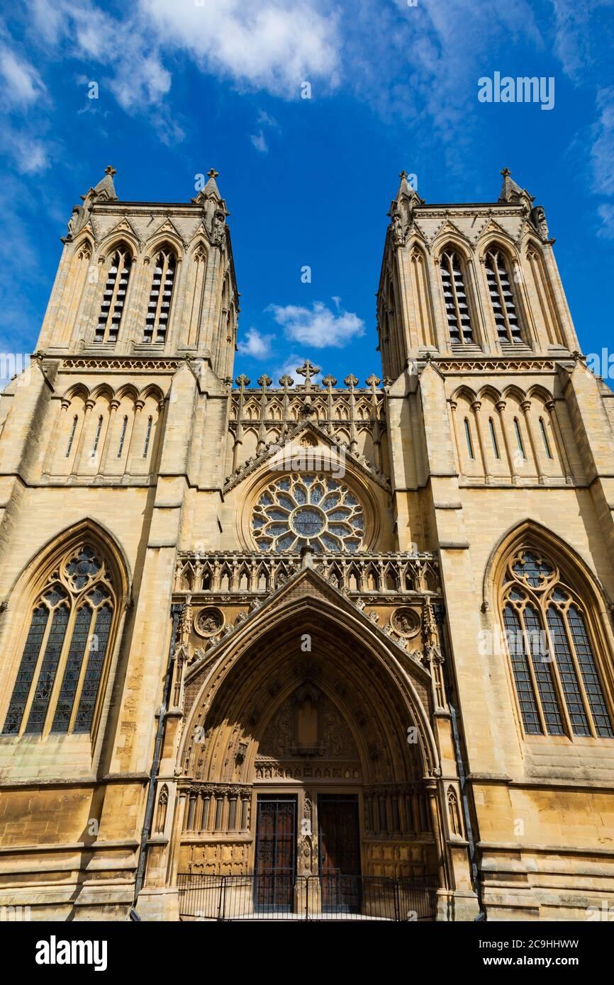 Cattedrale di Bristol, College Green, Bristol, Inghilterra. Luglio 2020 Foto Stock