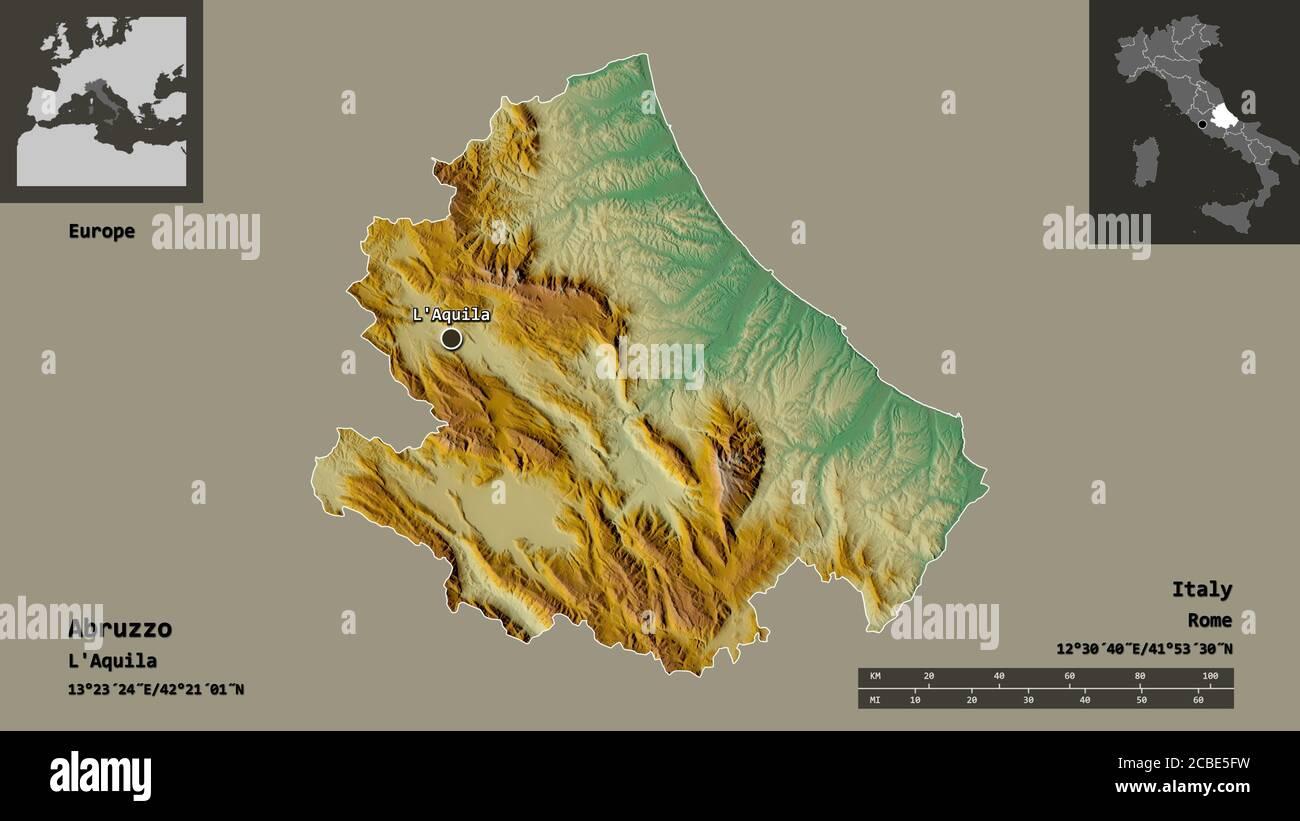 Cartina Dettagliata Abruzzo.Abruzzo Map Immagini E Fotos Stock Alamy