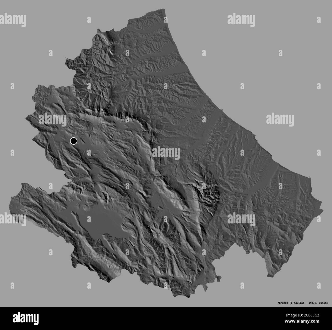 Cartina Della Regione Abruzzo.Mappa Della Regione Abruzzo Foto E Immagini Stock In Bianco E Nero Alamy