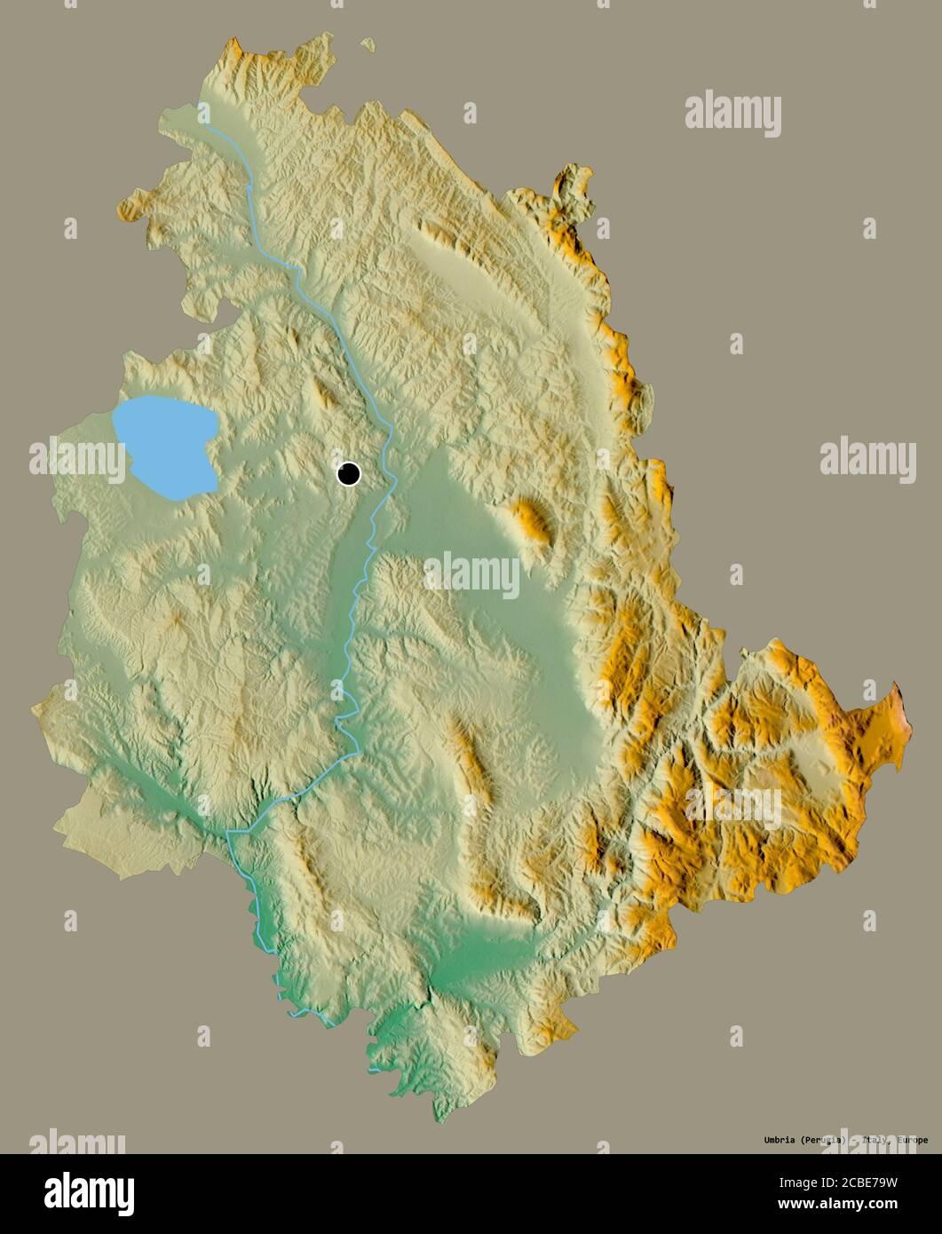 Umbria Cartina Geografica Fisica.Regione Umbria Italia Mappa Di Sfiato Foto Stock Alamy