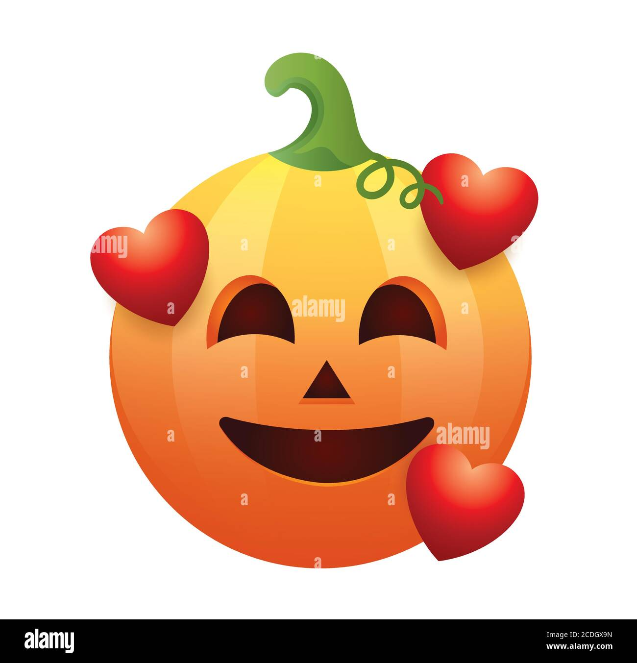 Emoticon di zucca.zucca di Halloween isolato su sfondo bianco.emoji di zucca di Halloween.rendering di zucca di Halloween Immagine e Vettoriale - Alamy