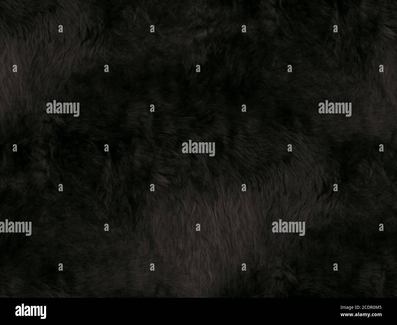 Tessuto di lana nera. Primo piano. Superficie di sfondo Foto Stock