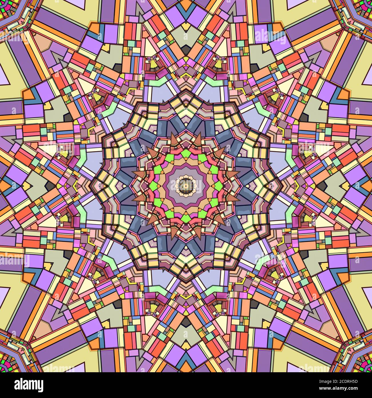 Pattern cromatico astratto e sfondo geometrico Foto Stock