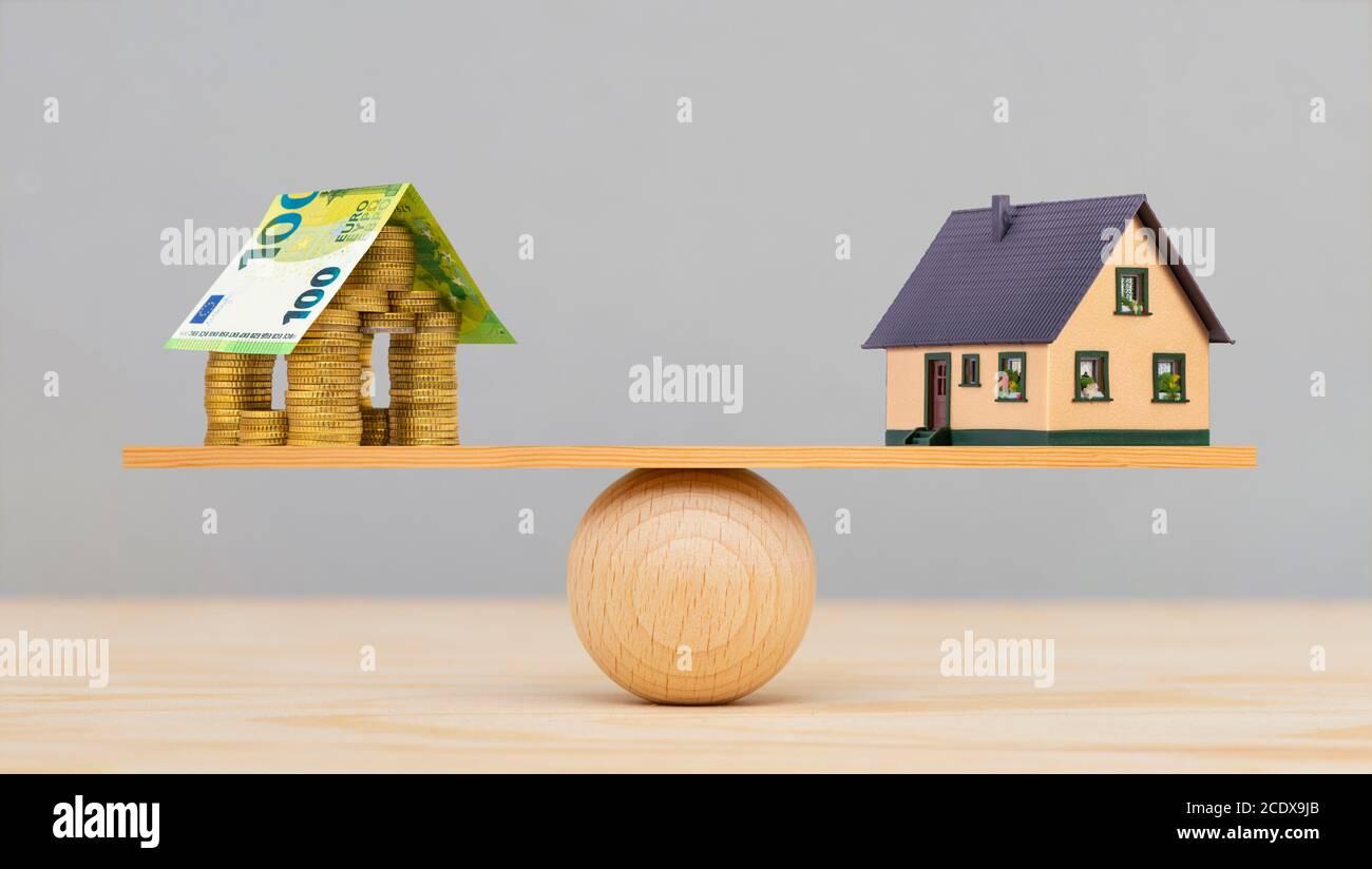 Finanziamento della costruzione di alloggi da parte della Banca Foto Stock