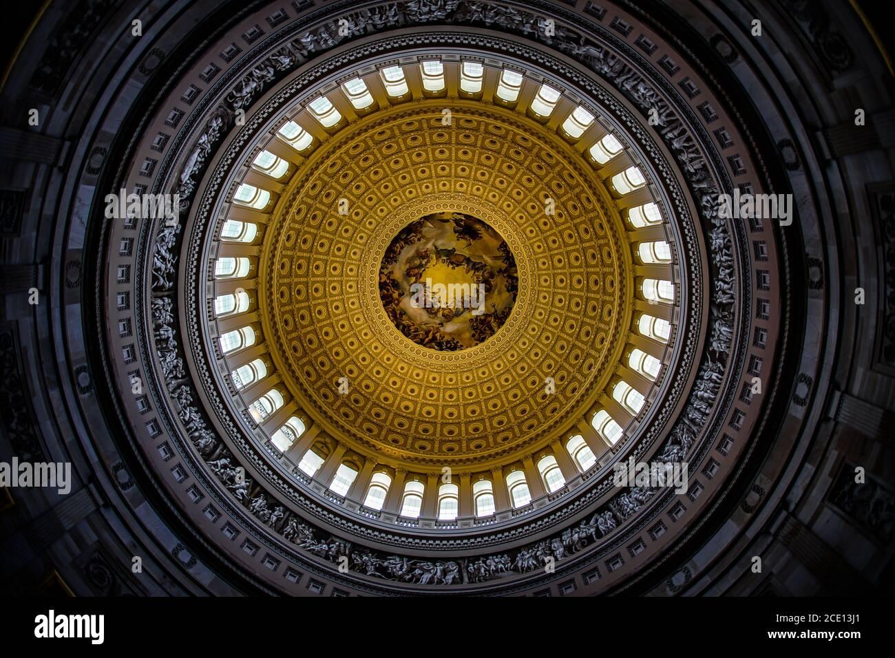 Dipinto del soffitto del Campidoglio degli Stati Uniti (Campidoglio degli Stati Uniti) Foto Stock