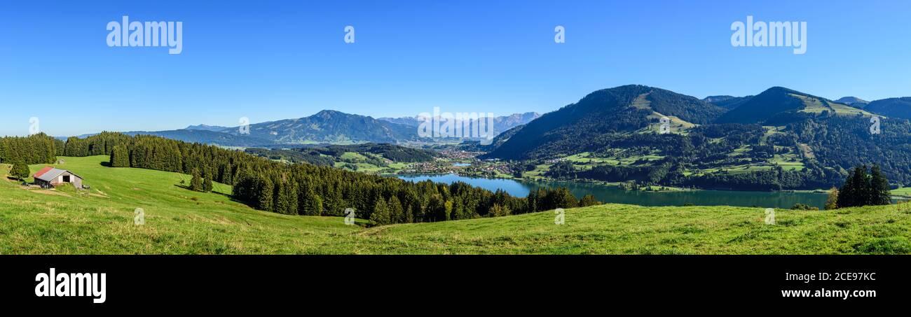 Regione di Allgäu dal di sopra - Immenstadt, Alpsee e Grünten Foto Stock