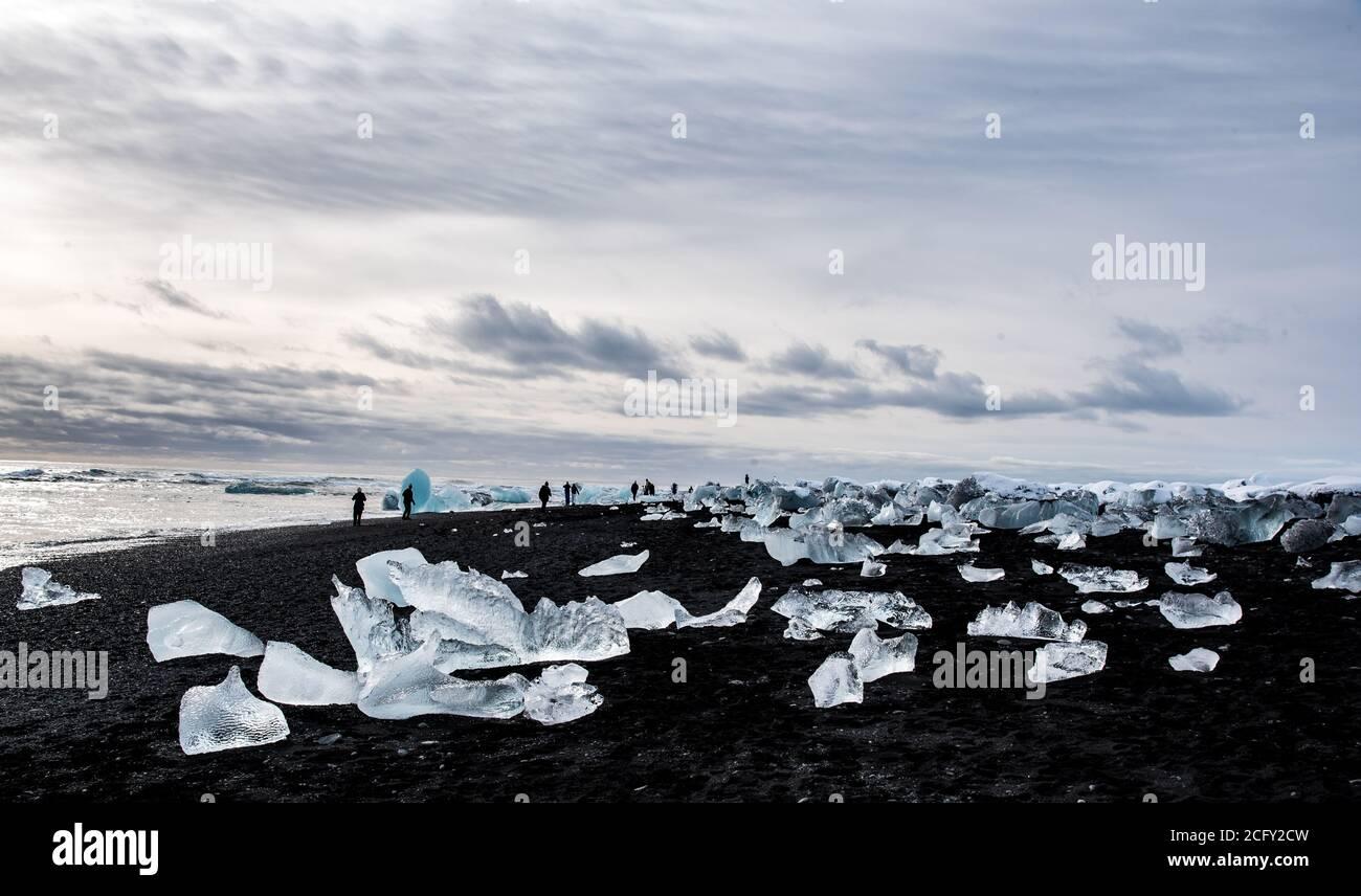 Spiaggia di diamante, Islanda Foto Stock