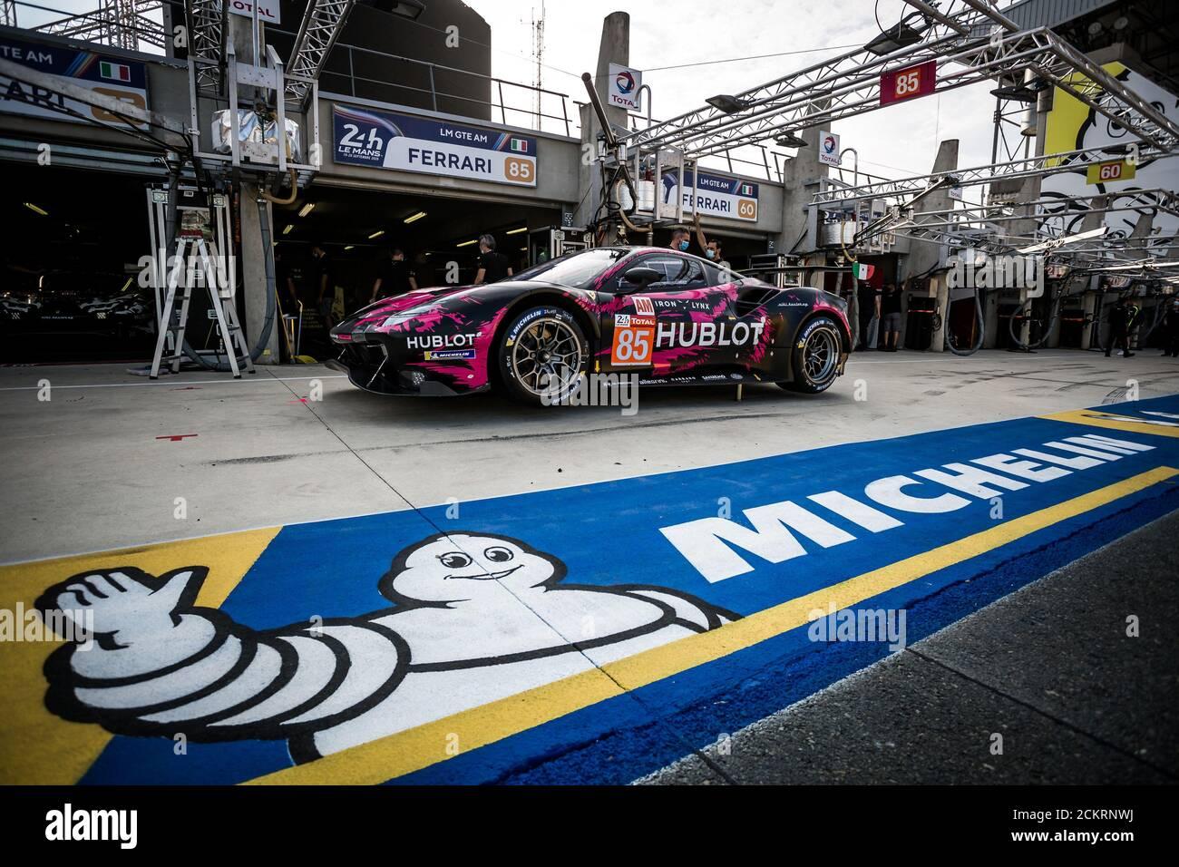 Le Mans, Francia. 16 settembre 2020. 85 Frey Rahel (swi), Gatting Michelle (dnk), Gostner Manuel (ita), Iron Lynx, Ferrari 488 GTE Evo, ambientazione durante la scrutatura della 2020 24 ore di le Mans, 7° round del Campionato Mondiale FIA Endurance 2019...20 sul circuito des 24 Heures du Mans, dal 16 al 20 settembre, 2020 a le Mans, Francia - Photo Thomas Fenetre / DPPI Credit: LM/DPPI/Thomas Fenetre/Alamy Live News Credit: Gruppo Editoriale LiveMedia/Alamy Live News Foto Stock