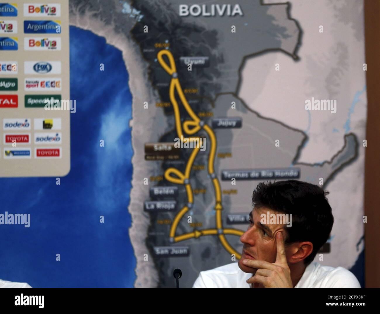 Marc Coma, direttore sportivo del Rally di Dakar, partecipa ad una conferenza stampa in vista del Rally di Dakar 2016 a Buenos Aires, Argentina, 31 dicembre 2015. REUTERS/Marcos Brindicci Foto Stock