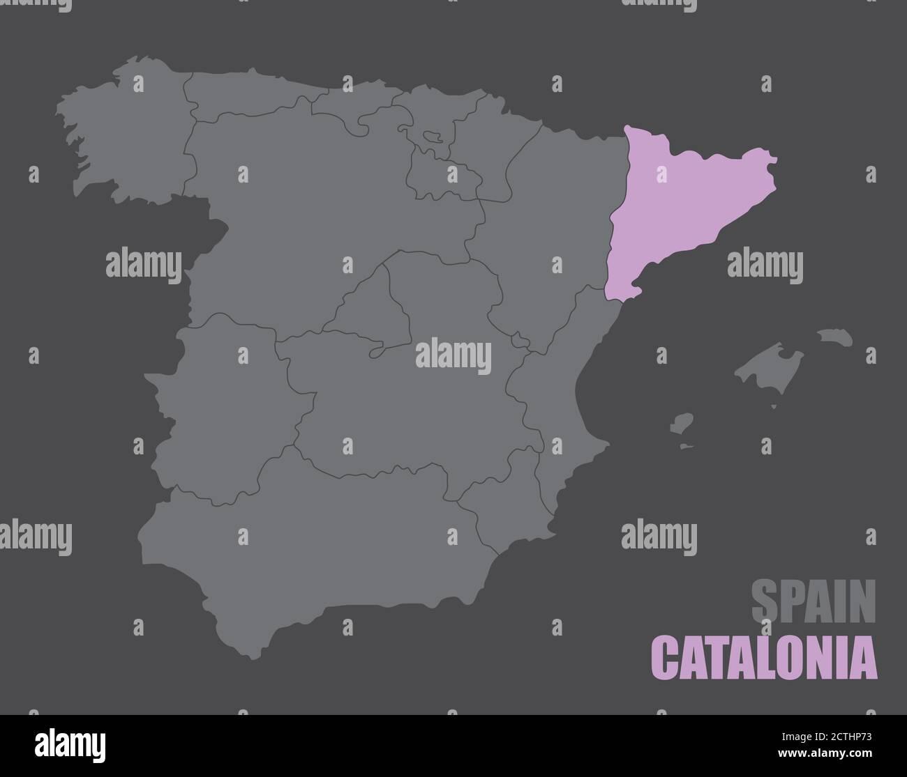 Cartina Geografica Spagna Costa Brava.Catalogna Cartina Immagini E Fotos Stock Alamy