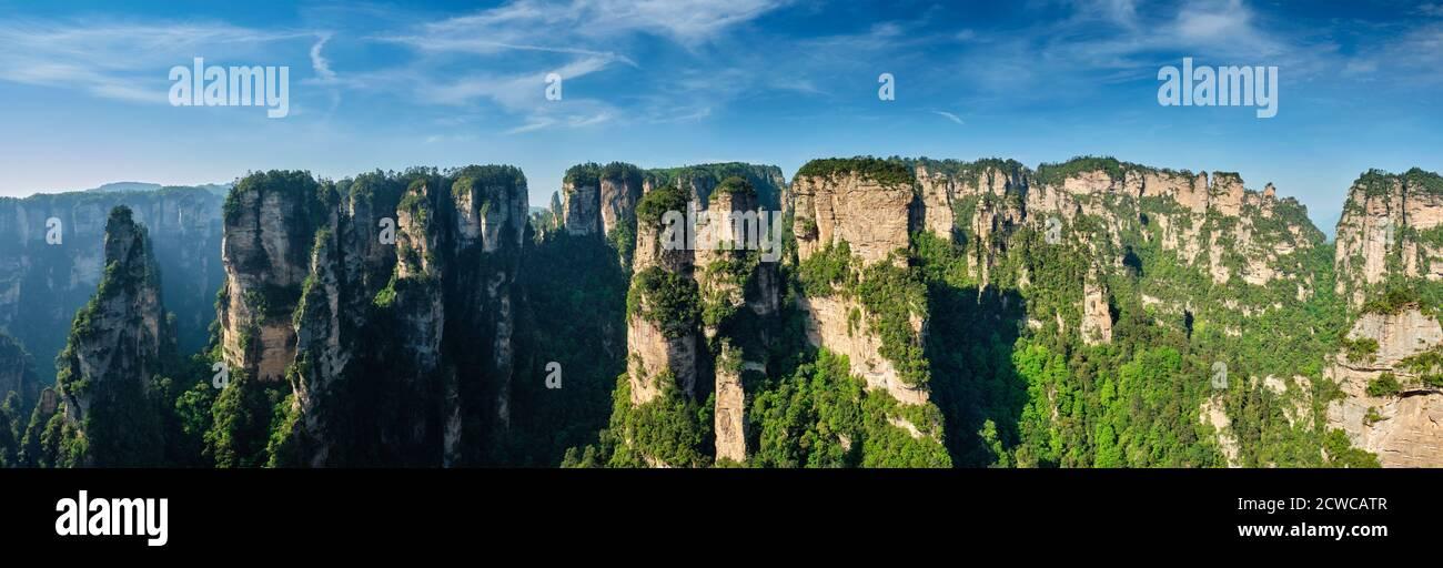 Montagne di Zhangjiajie, Cina Foto Stock