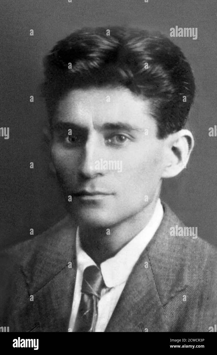 Franz Kafka (1883-1924), ritratto dello scrittore boemo, 1917 Foto Stock