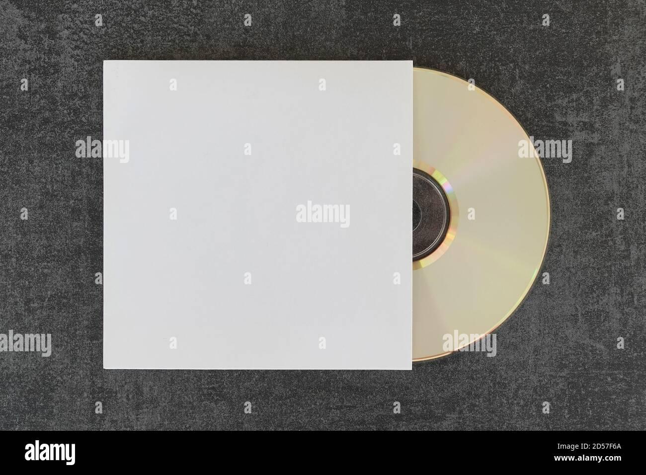 cd Compact Disc e custodia generica con spazio per la copia per posizionare le opere d'arte e le foto. Foto Stock