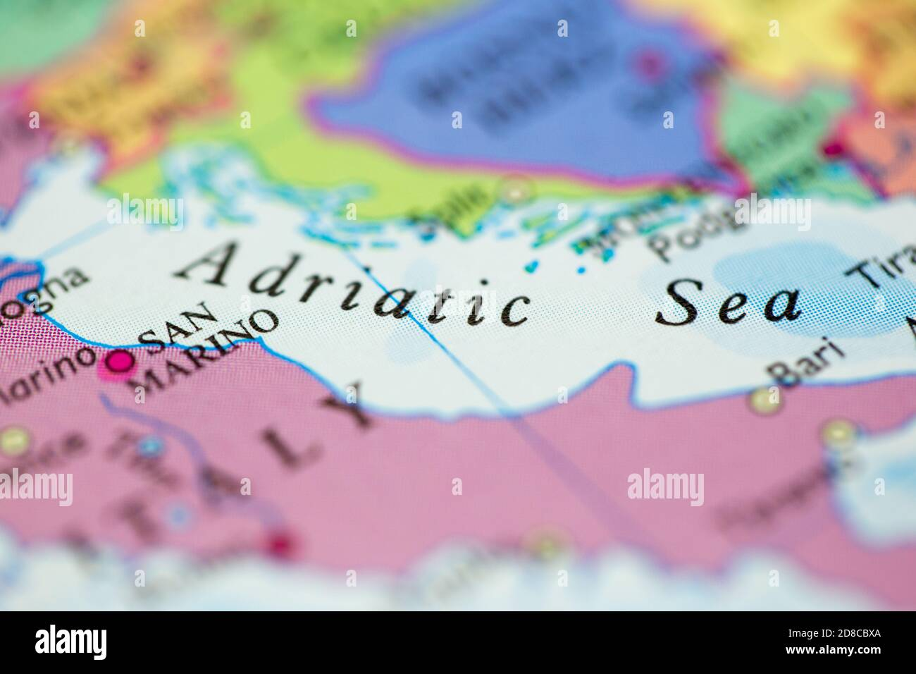 Cartina Italia Modificabile.Mappa Dell Adriatico Immagini E Fotos Stock Alamy