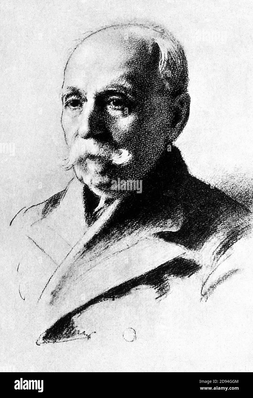 1923 , ITALIA : il medico e scienziato italiano CAMILLO GOLGI ( 1843 - 1926 ) . Nel 1906 ha ricevuto il Premio Nobel per la Fisiologia o la Medicina per il suo contributo con Santiago Ramón y Cajal in riconoscimento del loro lavoro sulla struttura del sistema nervoso . Ritratto di una donna pittore Dorotea Landau da Fano . - SISTEMA NERVOSO - NEURLOGO - NEUROLOGIA - NEUROLOGO - NEUROLOGIA - medico - STORIA - foto storiche - foto storica - PREMIO NOBEL PER LA CHIMICA e la fisionologia - CHIMICA - MEDICO - DOTTORE - SCIENZIATO - ritratto - ritratto - CHIMICO - SCIENZIATO - SCIENZA - SCIENZA Foto Stock